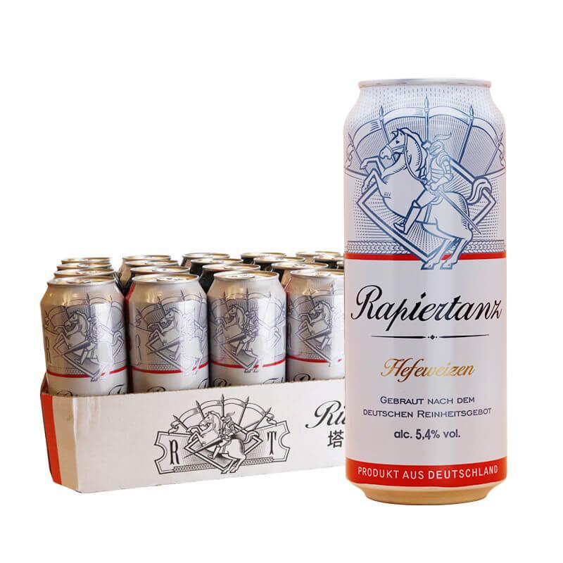 塔克骑士5.4度 白啤酒500ml*24听